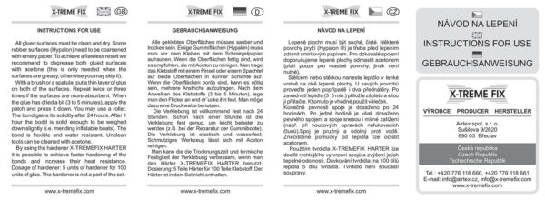 Kutlíci - polyuretanové lepidlo - sada návod - X Tremefix